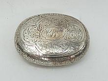 A fine blind engraved HM silver London made pocket