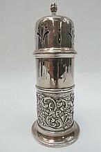 An HM silver embossed sugar castor, Birmingham