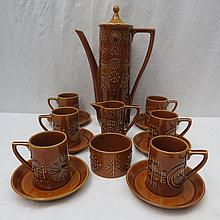 A Totem design coffee set by Susan Williams Ellis