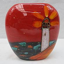 An Anita Harris studio pottery vase with
