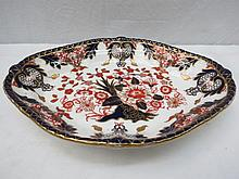 A Royal Crown Derby Victorian dish with Imari