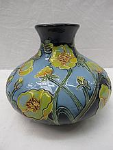 A Moorcroft trial vase with buttercup design of