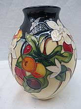 A Moorcroft limited edition vase with Bryony