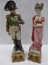 A Capodimonte figure of Napoleon, standing wearing