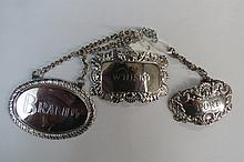 An HM silver decanter label 'Port', marked
