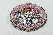 A 20thC Italian micro mosic oval brooch, with