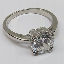 A single stone ring the large clear white stone