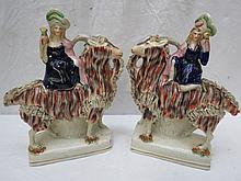 A pair of late 19thC Staffordshire flat-back