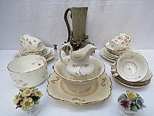 A late 19thC part tea service, David Chapman &