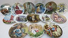 A group of fifteen various collectors plates by