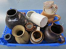 A small collection of studio and craft pottery
