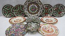 Five 20thC oriental famille rose side plates 18cm