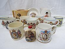 A collection of Royal commemorative mugs from