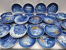 A set of Copenhagen Christmas plates 1972 - 2000,