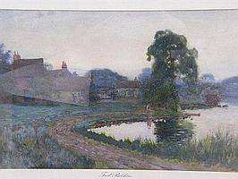Frederick Balshaw (exhib 1888-1914). Cottages