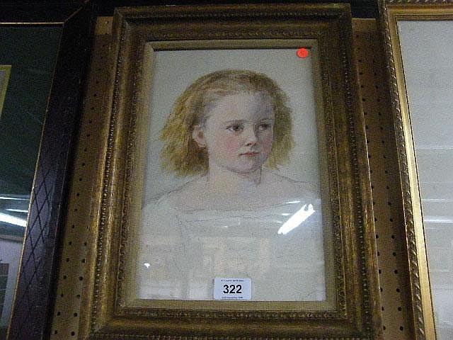 Edmund Harris (1851-1880). Portrait of Alice, the