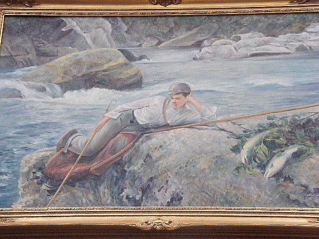 Roger Cooke. Salmon fishing, resting after a good