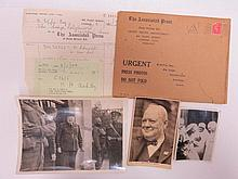 Churchill themed WWII era, used postcard depicting