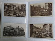 Postcards, GB 176 real photograph cards of London
