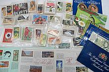 Tea cards and bank notes, a small quantity of