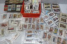 Cigarette trade cards, shell token sets, banknotes