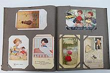 Postcard album with nice early to mid 1900's,