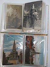 Two small albums of early 1900's scenic cards plus