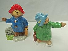 A Beswick Paddington Bear figure together with