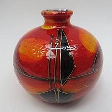 An Anita Harris studio pottery signed vase with