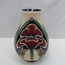 A large Moorcroft vase with petaldome design,