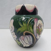 A Moorcroft trial ginger jar & cover with floral