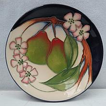 A Moorcroft trial dish with pears and blossom