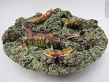 A Palissy type dish by Jose A. Dunha of Portugal