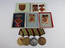 An East German post war medal group for long and