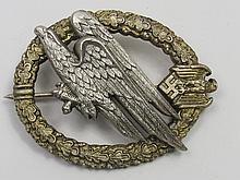 A Nazi Parachute Regiment badge, diving eagle on a