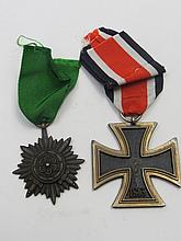 An Nazi Iron Cross, Second Class with medal