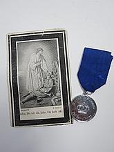 A WWI German soldier's death card for Heinrich