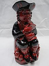 A Peggy Davies ruby fusion large Staffordshire