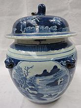 A good Chinese blue and white ginger jar and cover