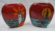 Two Anita Harris studio pottery vases of narrow