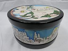 A Moorcroft large circular box and cover with
