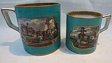 A large 19thC. Pratt ware mug decorated with