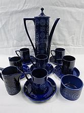 A Portmeirion coffee set in 'Totem' design