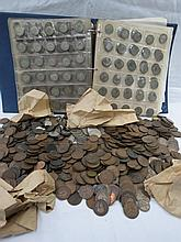 British coinage within a coin album and loose,