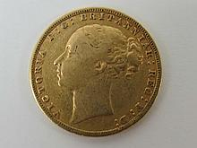 A Victorian gold Sovereign dated 1880