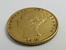 A Victorian gold Sovereign dated 1866