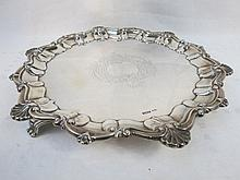 A HM silver salver, unengraved marked for William