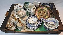 A box of crockery including Aynsley Royal