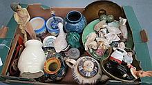A quantity of miscellaneous ceramics.