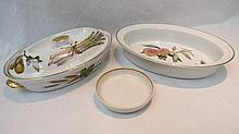 A Royal Worcester Evesham pattern oven to